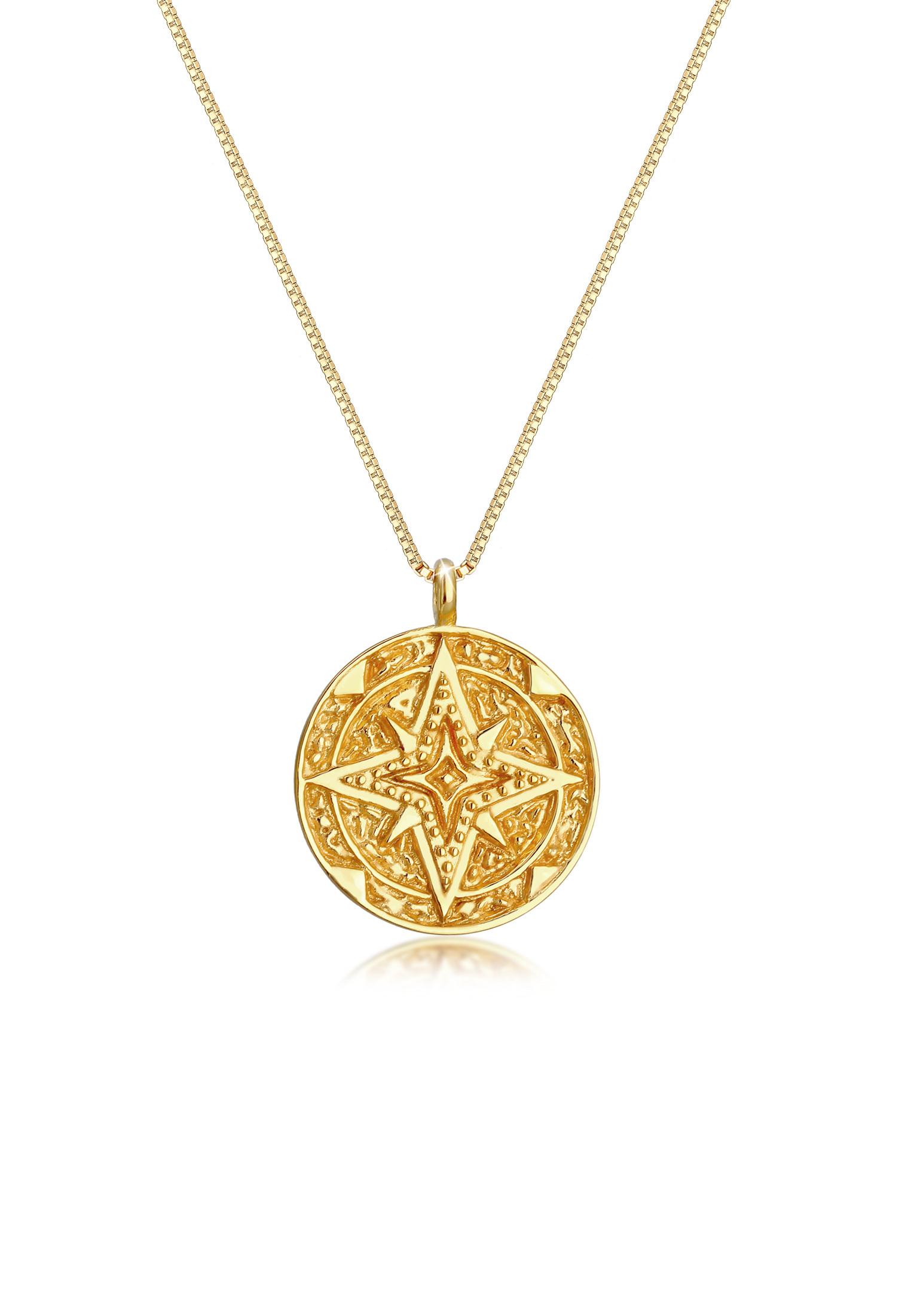 Lange Venezianer-Halskette Astro | 925 Sterling Silber vergoldet