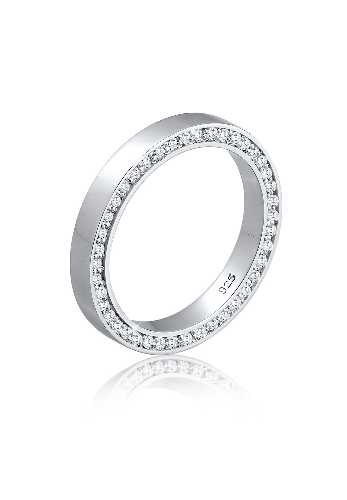 Bandring   Zirkonia ( Weiß )   925er Sterling Silber