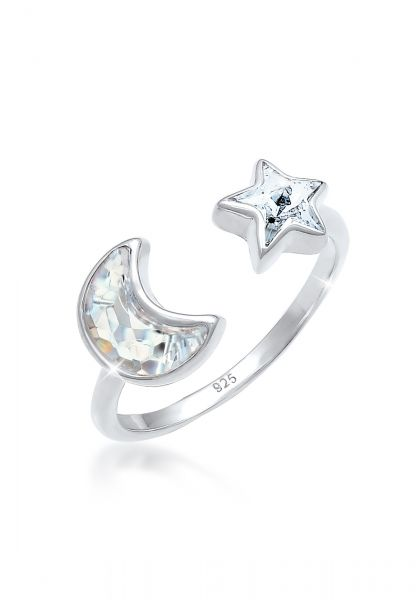 Elli Ring Astro Kristalle 925 Silber vergoldet