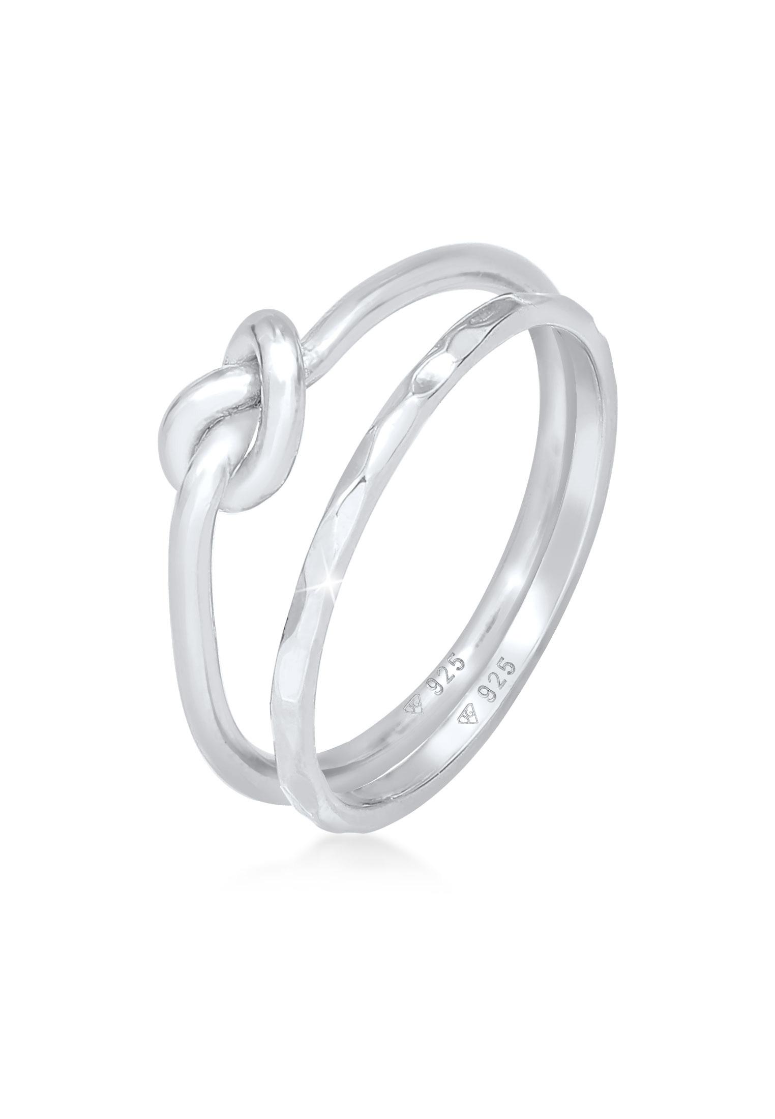 Ringset Knoten | 925er Sterling Silber