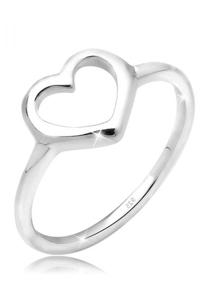 Elli Ring Herz Trendsymbol 925 Silber