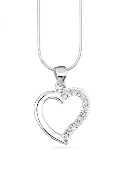 Elli Halskette Herz Zirkonia Bezaubernd 925 Sterling Silber