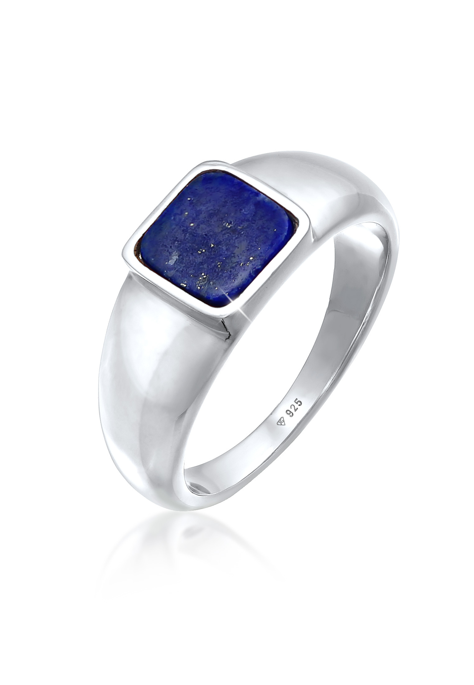 Siegelring Quadrat   Sodalith (blau)   925er Sterling Silber