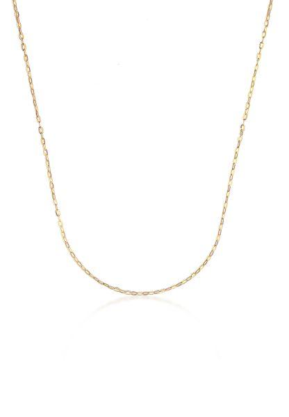 Elli PREMIUM Halskette Spiegelanker Anker Gelbgold 333 Made in Germany