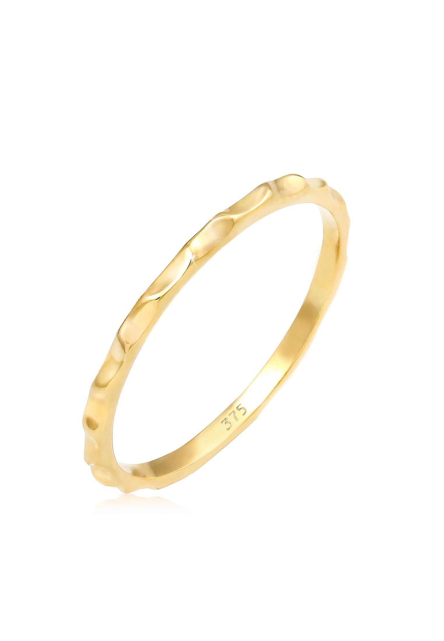 Ring Geo   375 Gelbgold