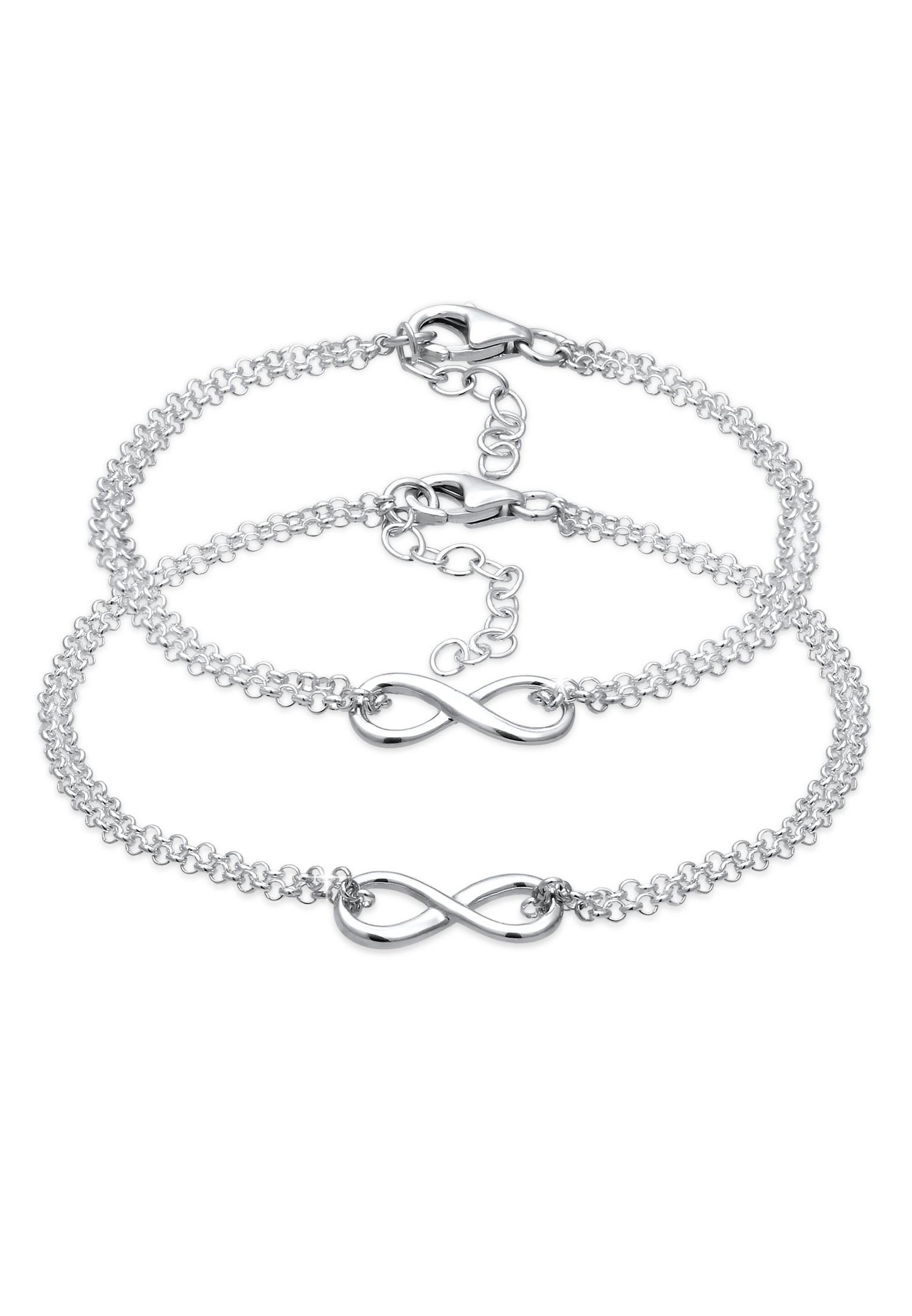 Mutter-Kind-Armbandset Infinity | 925er Sterling Silber