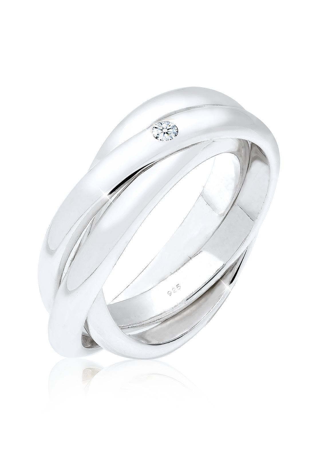 Verlobungsring   Diamant ( Weiß, 0,03 ct )   925er Sterling Silber