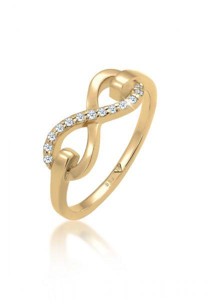 Elli PREMIUM Ring Infinity Symbol Diamant (0.065 ct.) 585 Gelbgold