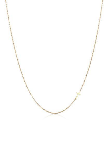 Halskette Kreuz   375er Gelbgold