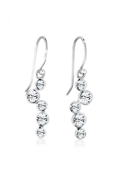 Elli Ohrringe Tropfen Glamour Kristalle 925 Silber