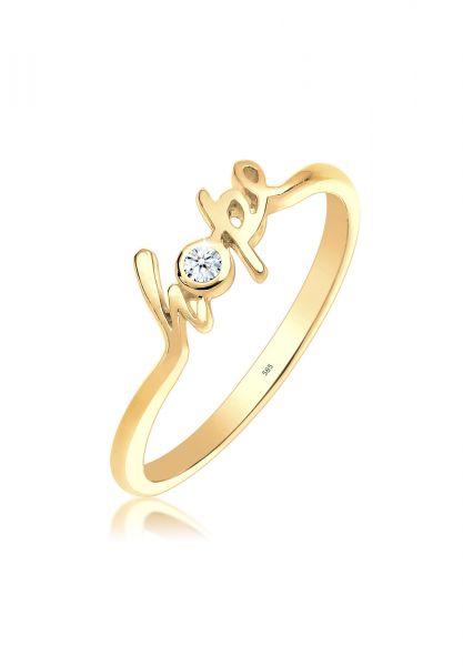 Verlobungsring Hope | Diamant ( Weiß, 0,03 ct ) | 585 Gelbgold