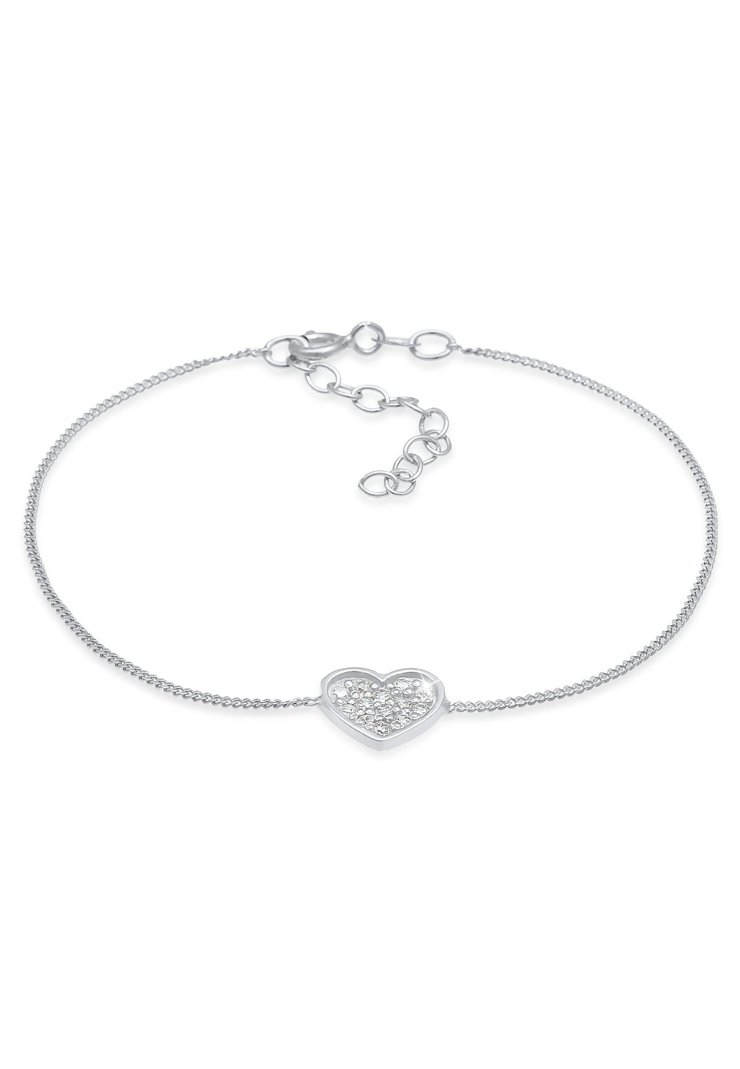 Armband Herz | Zirkonia ( Weiß ) | 925er Sterling Silber