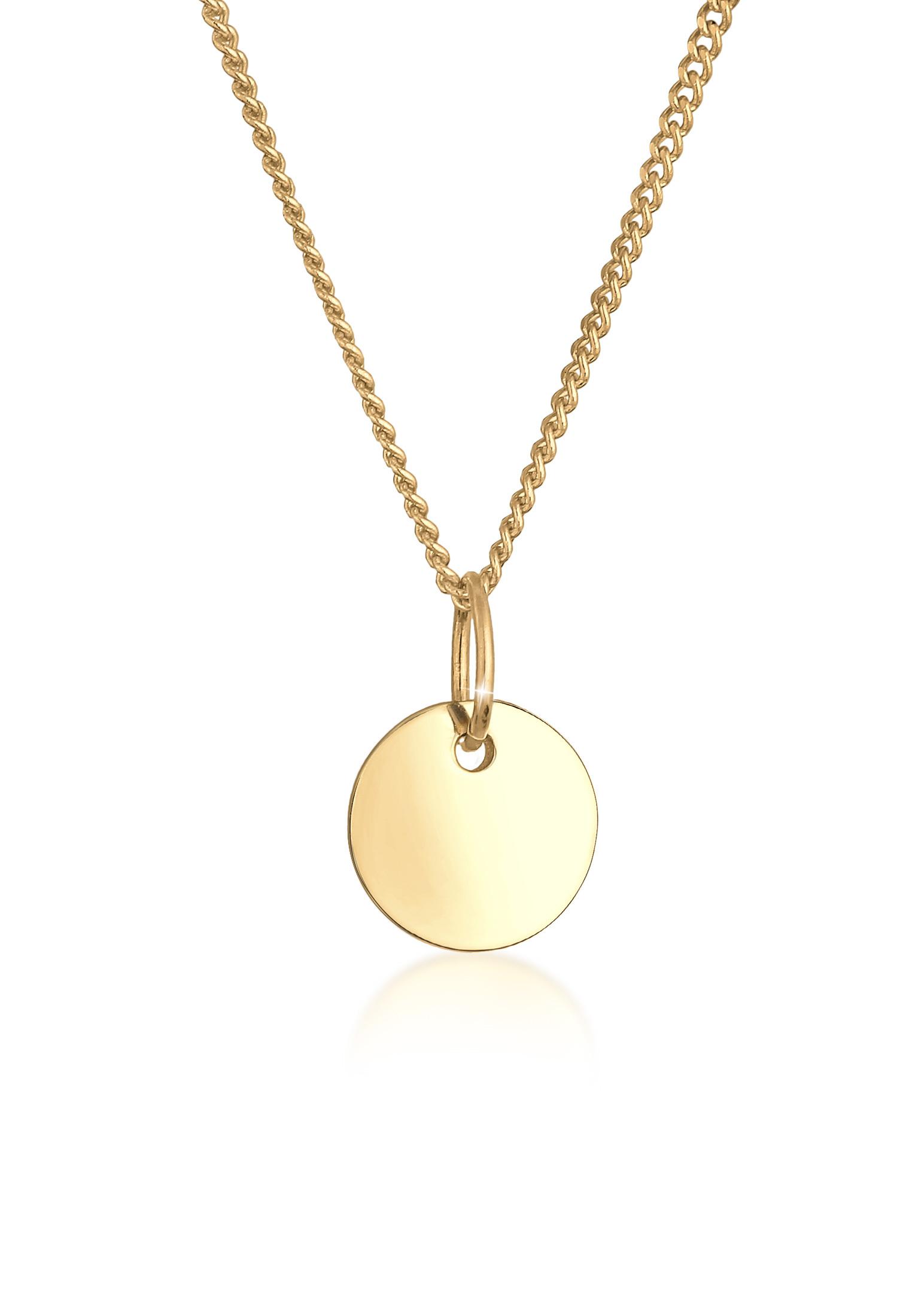 Halskette Plättchen | 585 Gelbgold