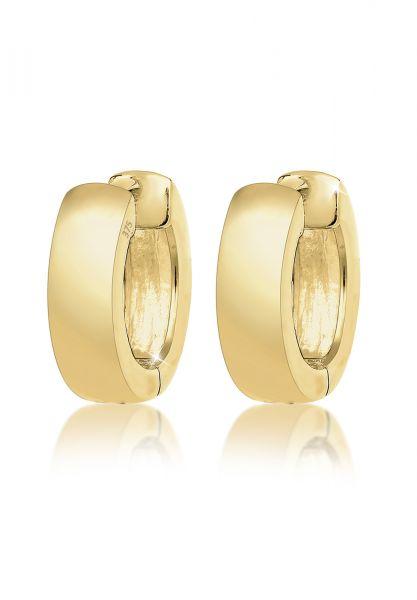 Elli PREMIUM Ohrringe Creolen Basic Klassisch 375 Gelbgold
