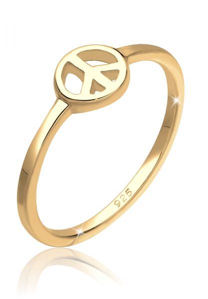 Elli Ring Peace Frieden Symbol 925 Sterling Silber