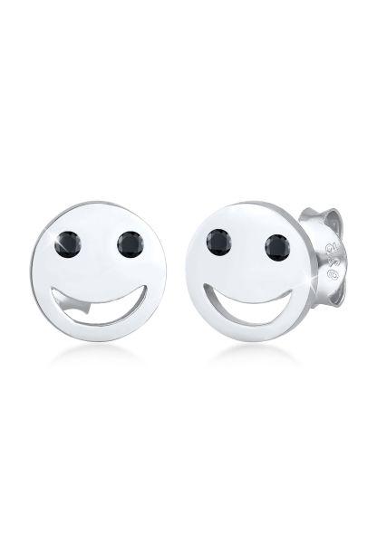 Elli Ohrringe Smiley Face Emoji Zirkonia 925 Silber