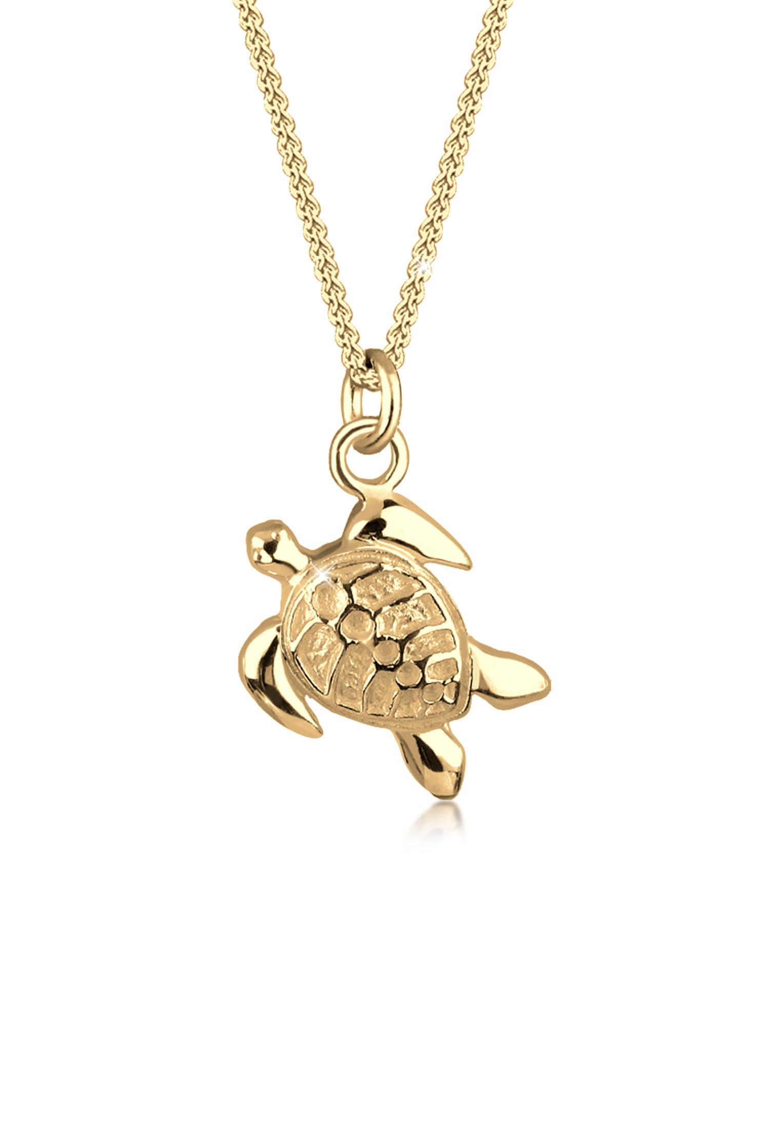Halskette Schildkröte   925er Sterling Silber