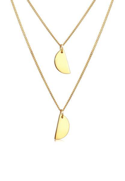 Layer-Halskette | 925 Sterling Silber vergoldet