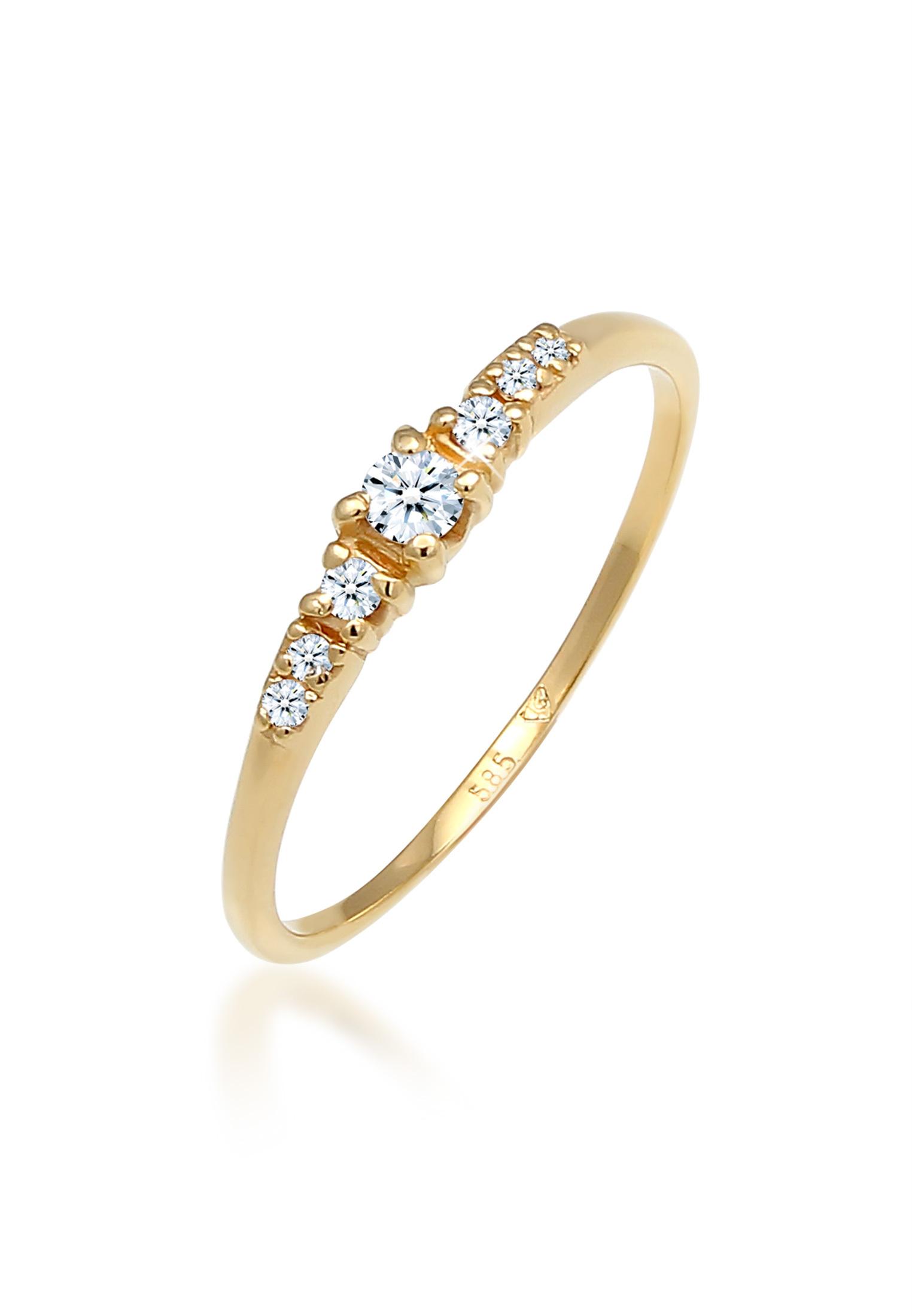 Verlobungsring | Diamant ( Weiß, 0,11 ct ) | 585 Weißgold