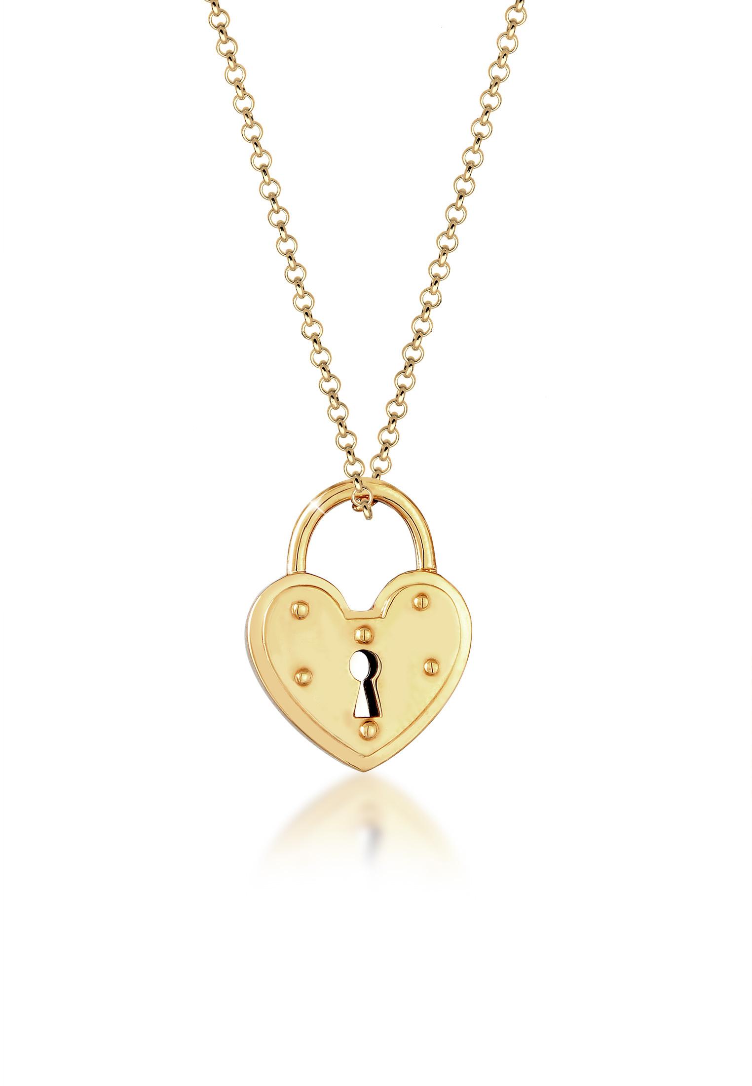 Halskette Herz | 925 Sterling Silber vergoldet