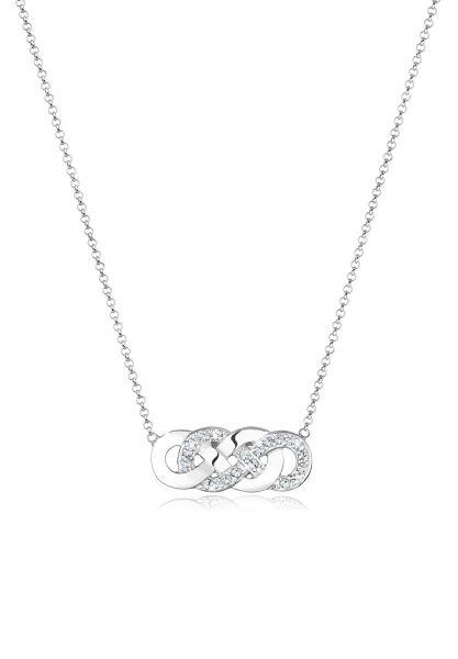 Halskette Infinity | Kristall ( Weiß ) | 925er Sterling Silber
