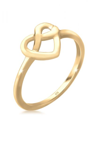 Ring Brezel   925 Sterling Silber vergoldet