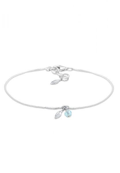 Armband | Kristall ( Hellblau ) | 925er Sterling Silber