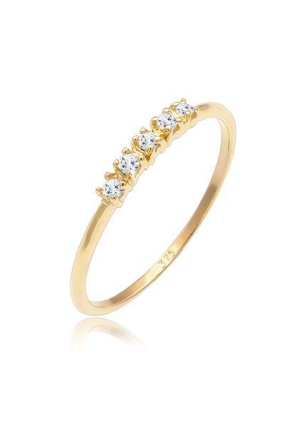 Verlobungsring | Topas ( Weiß ) | 375 Gelbgold