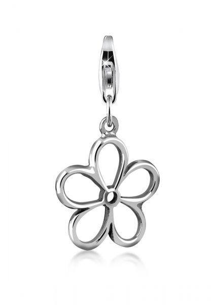 Nenalina Charm Anhänger Blume Floral 925 Sterling Silber