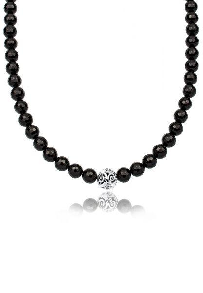 Elli Halskette Kugel Ornamente Onyx 925 Sterling Silber