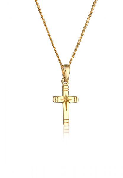 Halskette Kreuz | 585 Gelbgold