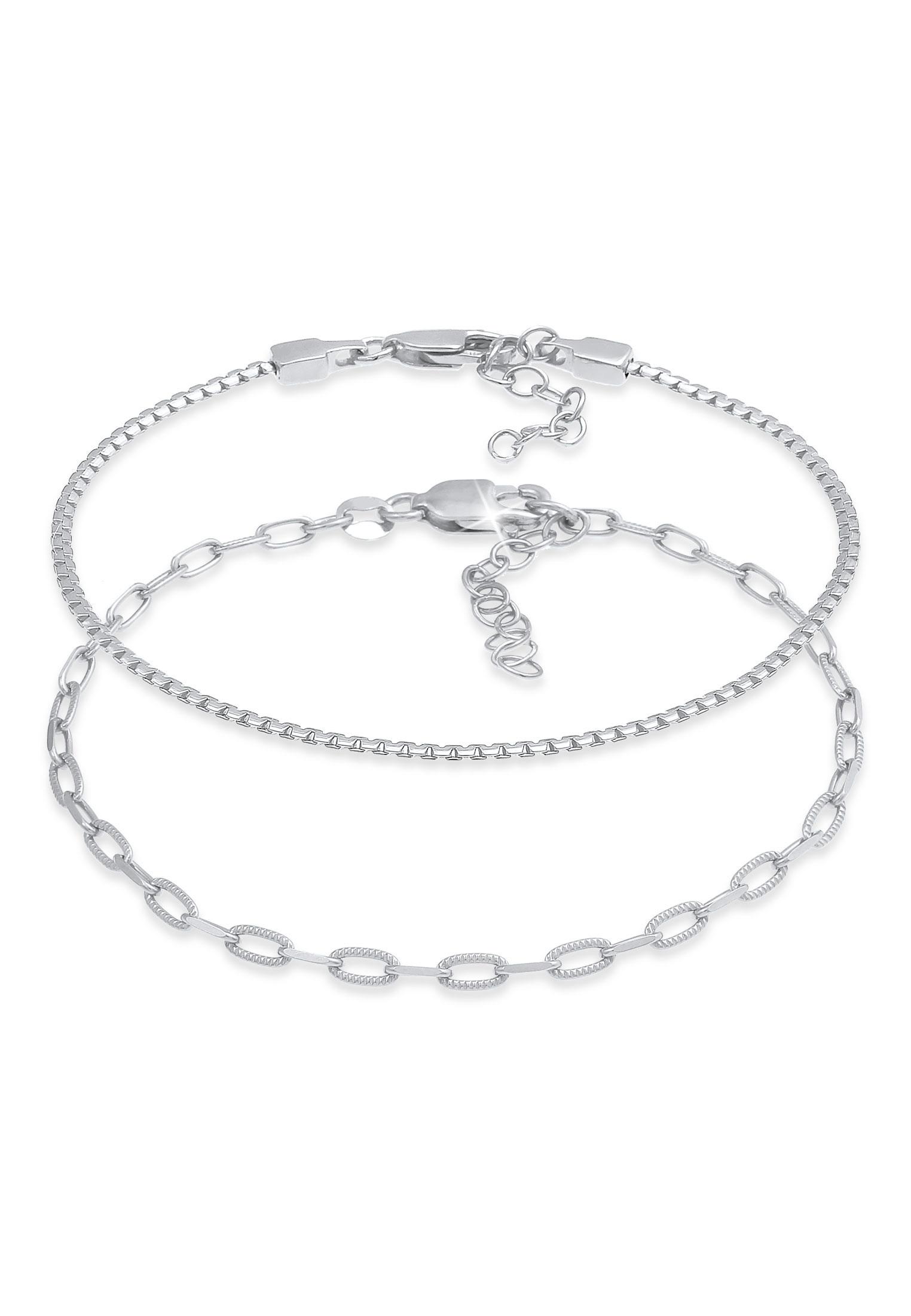 Schlangen-Armbandset | 925er Sterling Silber