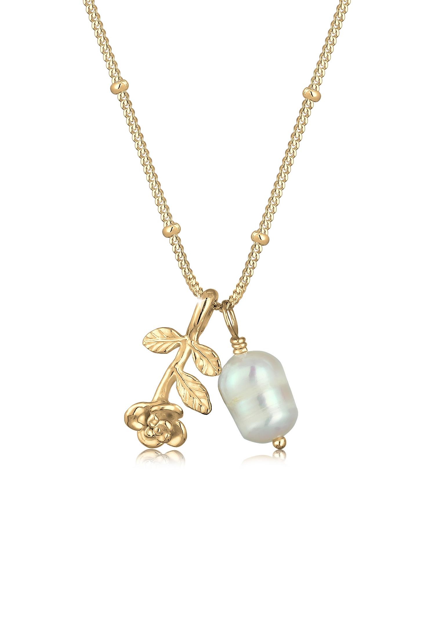 Kugel-Halskette | Süßwasserperle | 925 Sterling Silber vergoldet