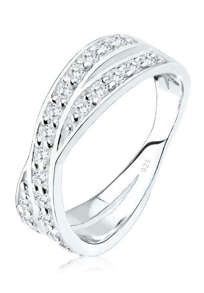 Elli Ring X Wickelring Zirkonia 925 Silber