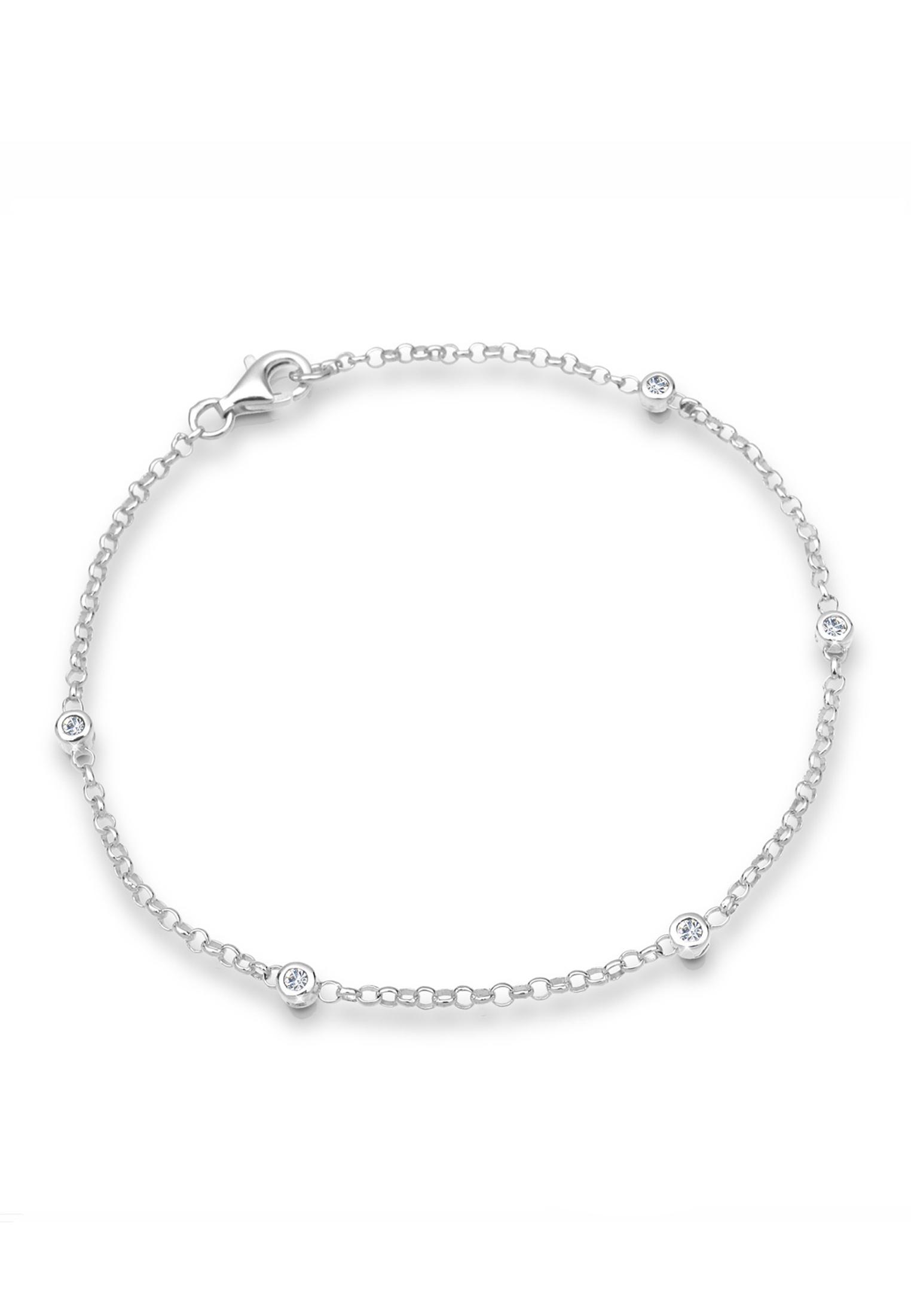Armband | Kristall ( Weiß ) | 925er Sterling Silber