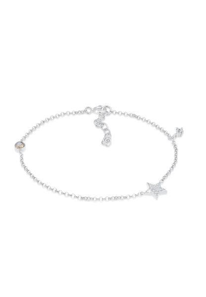 Armband Astro | Labradorit ( Grau ) | 925er Sterling Silber
