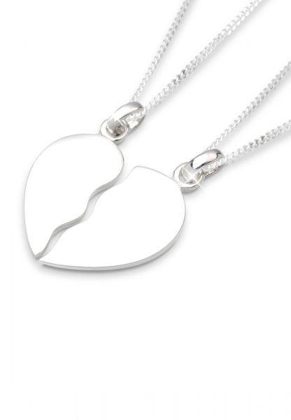 Elli Halskette Set Herz Liebe Freunde Partner 925 Silber