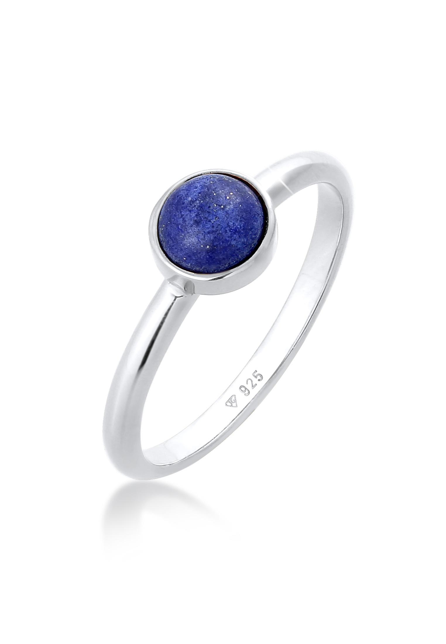 Solitär-Ring | Lapis Lazuli (Blau) | 925er Sterling Silber
