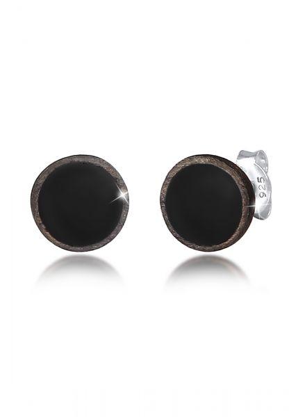 KUZZOI Ohrringe Basic Kreis Geo Emaille 925 Sterling Silber