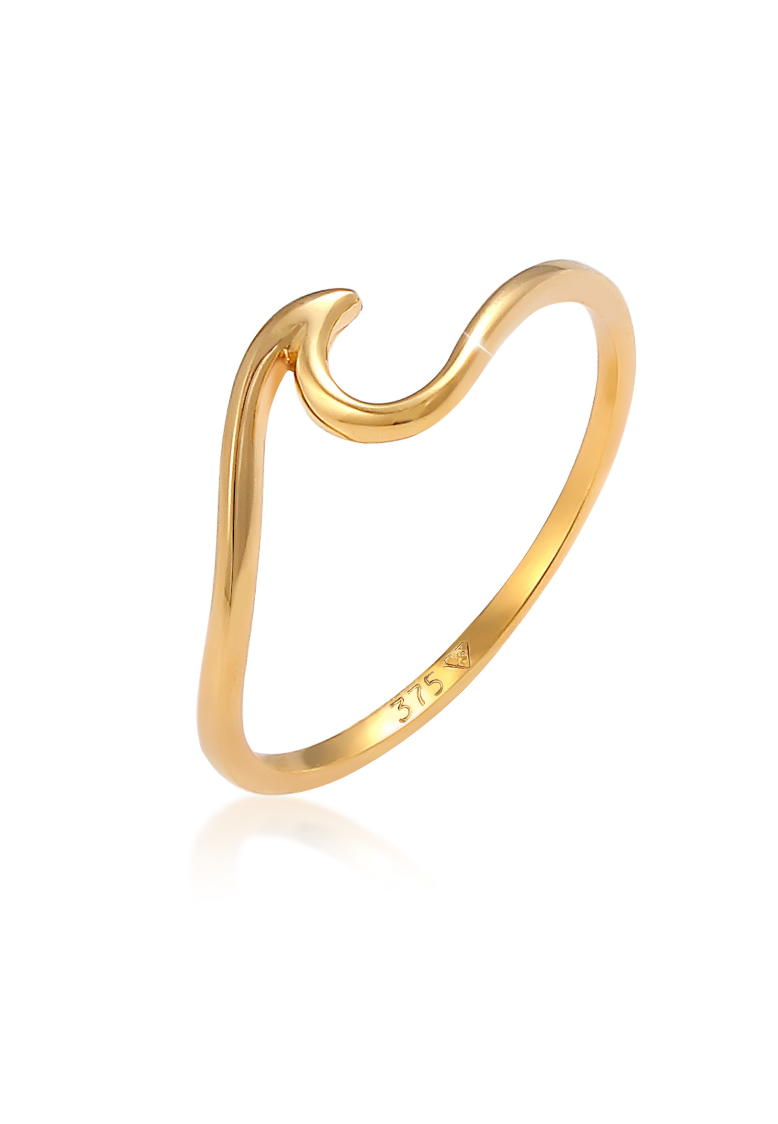 Ring Welle | 375 Gelbgold