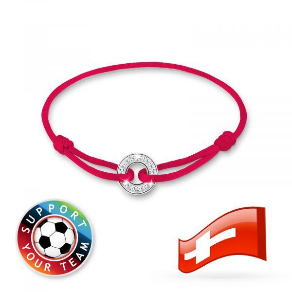Elli Armband Fußball-WM Länder Zirkonia 925 Sterling Silber