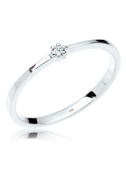 Verlobungsring | Diamant ( Weiß, 0,015 ct ) | 925er Sterling Silber