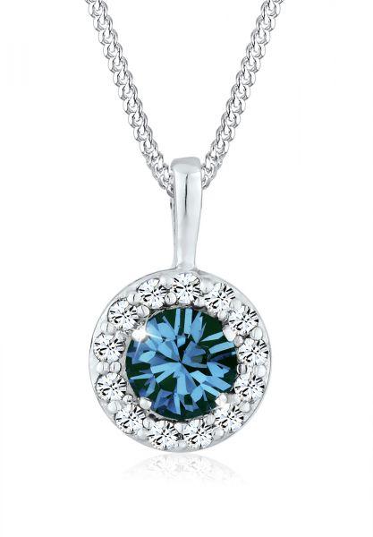 Elli Halskette Kreis Kristalle 925 Sterling Silber