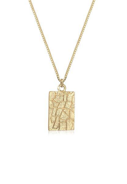 Elli Halskette Box Chain Vintage Look Geo Anhänger 925 Silber