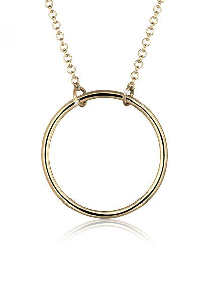 Elli Halskette Kreis Rund Geo Minimal 925 Sterling Silber