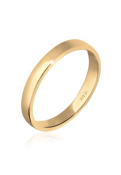Elli PREMIUM Ring Ehering Trauring Partnerring Basic 375 Gelbgold