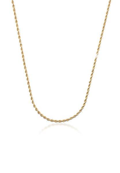 Elli PREMIUM Halskette Kordelkette Gedreht Gelbgold 333 Made in Germany