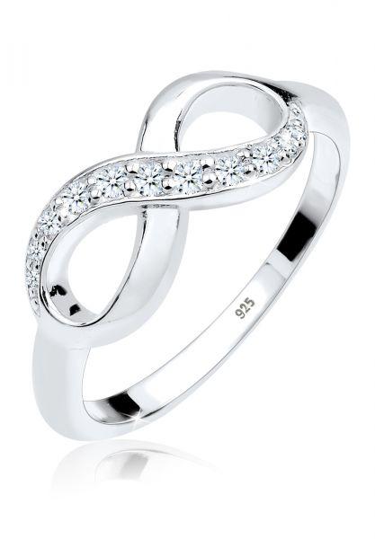 Verlobungsring Infinity | Diamant ( Weiß, 0,125 ct ) | 925er Sterling Silber