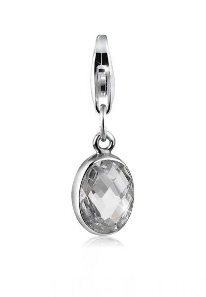 Charm | Zirkonia ( Weiß ) | 925er Sterling Silber