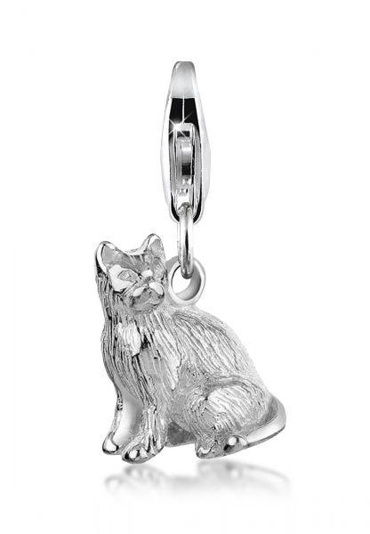 Nenalina Charm Anhänger Katze Tier 925 Sterling Silber